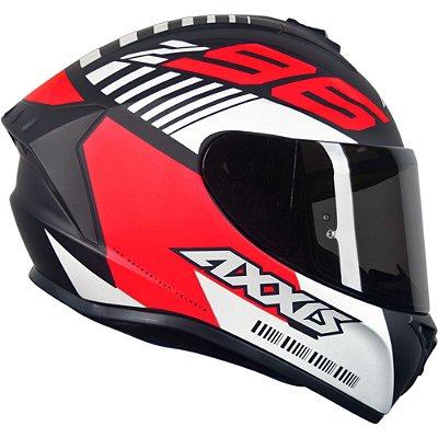 Capacete Axxis Draken Z96 Matte - Preto/Vermelho/Branco
