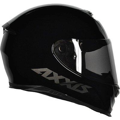 Capacete Axxis Eagle Solid Monocolor - Preto/Cinza