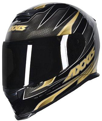 Capacete Axxis Eagle Speed Gloss - Preto/Dourado