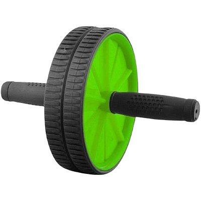 Roda De Exercícios Abdominal Wheel Stability Poker - Preto E Verde