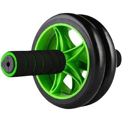 Roda De Exercícios Abdominal Wheel Balance Poker - Preto E Verde