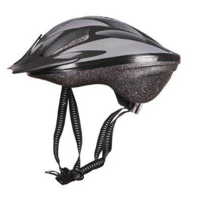 Capacete Bike Poker Out Mold Windstorm Com Led - Preto/Cinza
