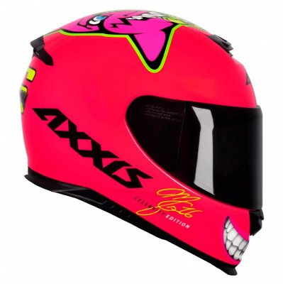 Capacete Axxis MG16 Celebrity Edition Marianny Gloss - Rosa