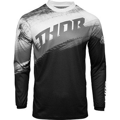 Camisa Thor Sector Vapor - Preto/Branco