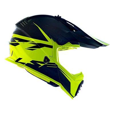 Capacete LS2 Fast MX437 Roar Matte - Preto/Amarelo
