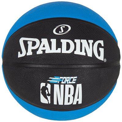 Bola De Basquete Spalding - NBA Force - Borracha - Preta/Azul