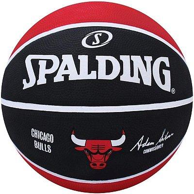 Bola De Basquete Spalding - NBA Chicago Bulls - Borracha - Vermelha/Preta