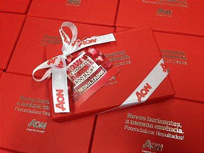 Caixa Rígida Personalizada 01 Cor com 6 Brigadeiros Goumert + Laço