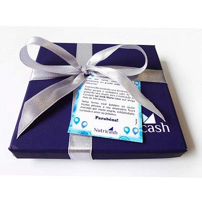 Caixa Rígida Personalizada 01 Cor com 6 Tabletes personalizados 04 cores + Laço