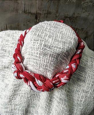 Gargantilha Malha Vermelho-Mescla