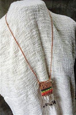 Colar Mini Têxtil Color