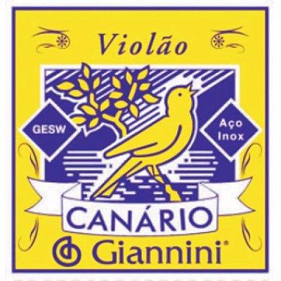 Encordoamento Violão aço c/ chenilha Canário Giannini
