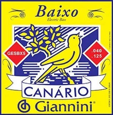 Encordoamento Baixo Eletrico 5 cordas Canario Giannini