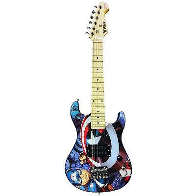 Guitarra Kids Personalizada Capitão América PHX