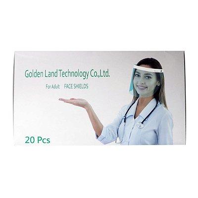 Máscara Protetora Facial Face Shields Anti-Embaçante C/20 Un - Golden Land