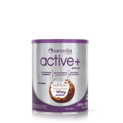 Suplemento Vitamínico Active+ Best Age Sanavita Sabor Chocolate com Whey Protein
