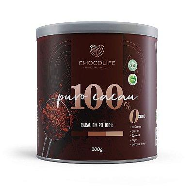 CACAU EM PÓ PREMIUM 100% 200G - CHOCOLIFE
