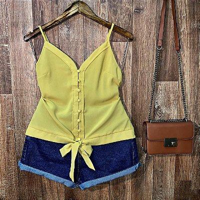 Blusa Alcinha Delicada Amarela