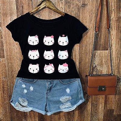 T-shirt Muitas Gatinhas