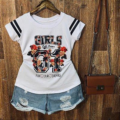 T-shirt Floral Girls 01