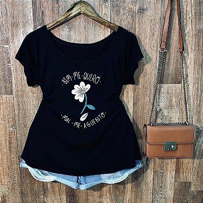 T-shirt Plus Size Bem Me Quero Mal Me Aguento