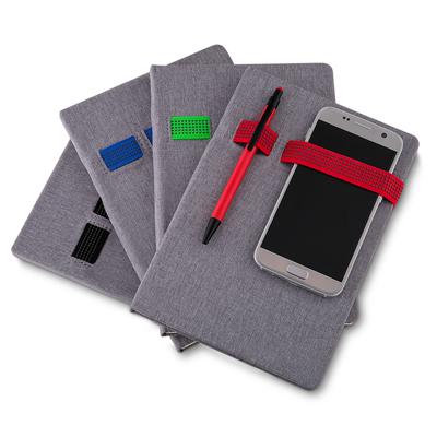 Caderno com Elástico Colorido Personalizado