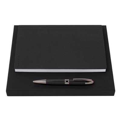 Caderno A5 e esferográfica
