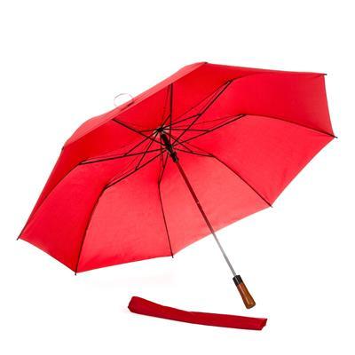 Guarda chuva com cabo de madeira