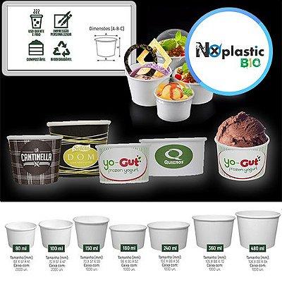 Potes de Papel Eco Biodegradável Promocional