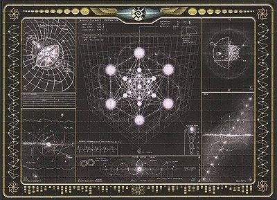 Quadro Blotter Art - Galaxy Chart
