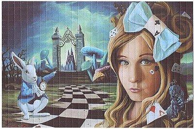 Quadro Blotter Art - Alice