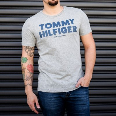 CAMISETA TOMMY HILFIGER GREY 1985
