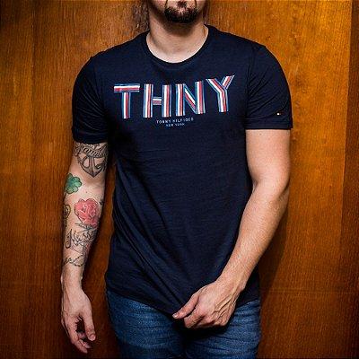 T-SHIRT TOMMY HILFIGER NAVY THNY