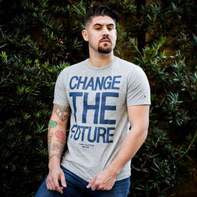 CAMISETA TOMMY HILFIGER GREY CHANGE THE FUTURE