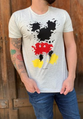 CAMISETA ELLUS COTTON MESCLA VINTAGE MICKEY