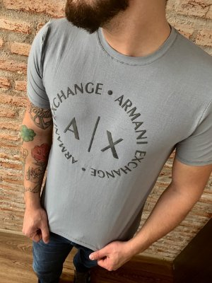 CAMISETA ARMANI EXCHANGE GREY WITH MACRO-LOGO