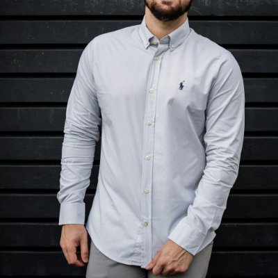 CAMISA RALPH LAUREN BASIC GREY