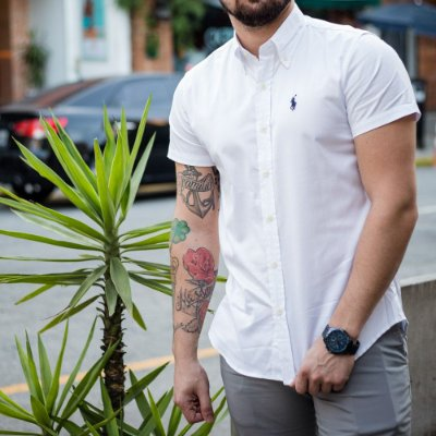 CAMISA RALPH LAUREN BASIC WHITE