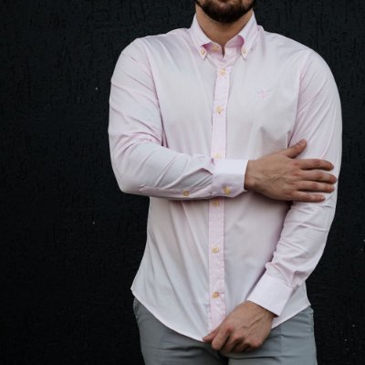CAMISA RALPH LAUREN BASIC LIGHT PINK