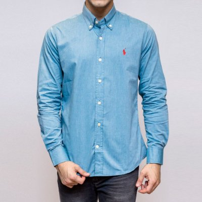 CAMISA RALPH LAUREN SOCIAL BASIC MEDIUM BLUE