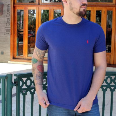 CAMISETA RALPH LAUREN BASIC COLORS NAVY BLUE