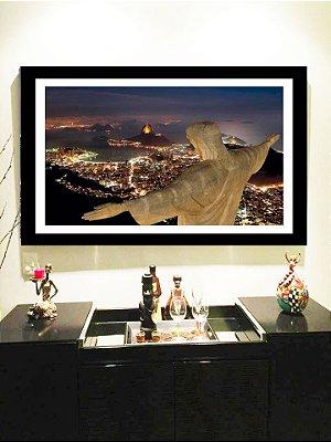 Quadro Strass Cristais Swarovski Rio de Janeiro Cristo Redentor Colorido