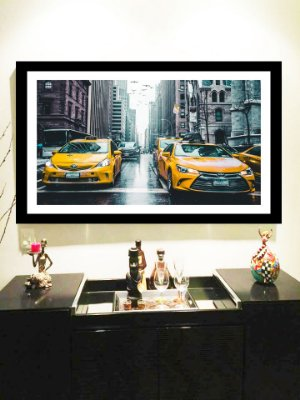 Quadro Strass Cristais Swarovski New York Taxi