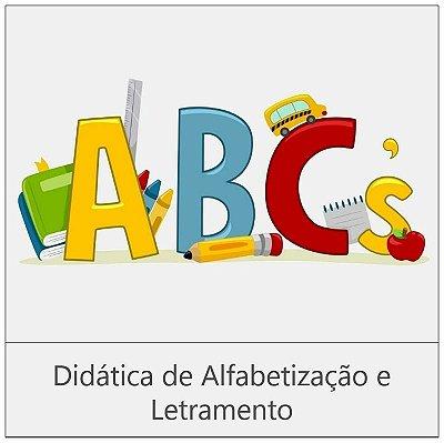 CURSO: DIDÁTICA DE ALFABETIZAÇÃO E LETRAMENTO - 180 horas