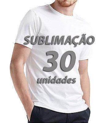 Camiseta lisa para Sublimação 30 unidades