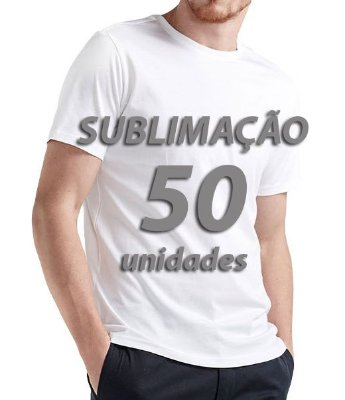 Camiseta lisa para Sublimação pacote 50 unidades