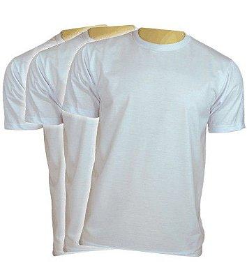 Camiseta Branca Lisa, Kit com 40 unidades