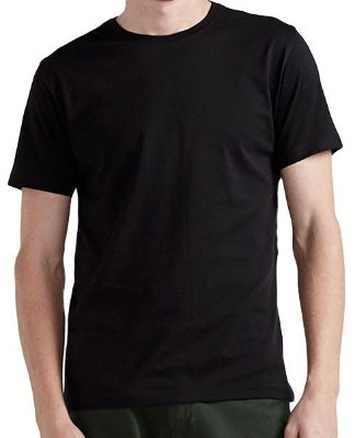 Camiseta Preta Lisa, Básica sem Estampa