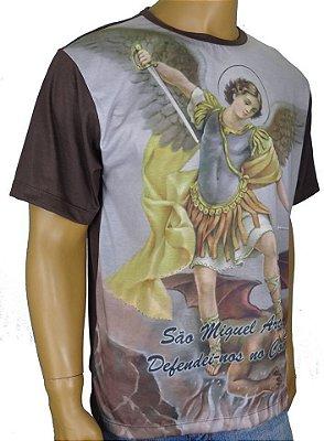 Camiseta São Miguel Arcanjo Marrom