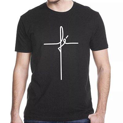 Camiseta Católica Fé Cruz